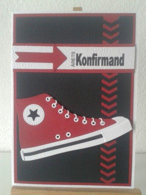 Die namics All star converse shoe card
