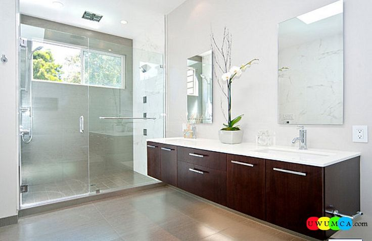 Bathroom:Decorating Modern Summer Bathroom Decor Style Tropical Bath Tubs Ideas Contemporary Bathrooms Interior Minimalist Design Decoration Plans Beautiful Orchid In A Minimalist Bathroom Cool and Cozy Summer Bathroom Style : Modern Seasonal Decor Ideas