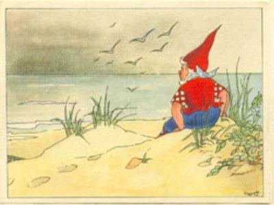 in het land der blonde duinen en niet heel ver van de zee woonde eens een dwergenpaartje en het heette Piggelmee (ik ken de tekst nog steeds uit mn hoofd)