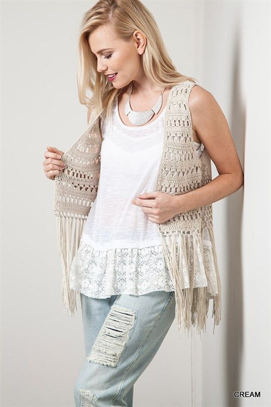 South Fork Crochet and Fringe Vest