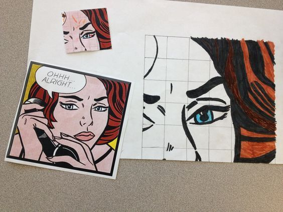 In this project, students are asked to take a famous piece of art and increases its size by a scale factor of at least three. The extra challenge is that each piece of art is divided into 2-4 pieces and each student only gets a portion of the original. Th