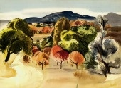 Millard Sheets, N.A. (1907-1989) Born: Pomona, CA; Studied: Chouinard Art Institute (Los Angeles); Member: National Academy of Design, New York Water Color Club, American Watercolor Society, California Water Color Society. Millard Sheets was a native California artist and grew up in the Pomona Valley near Los Angeles. He attended the Chouinard Art Institute and studied with F. Tolles Chamberlin and Clarence Hinkle.