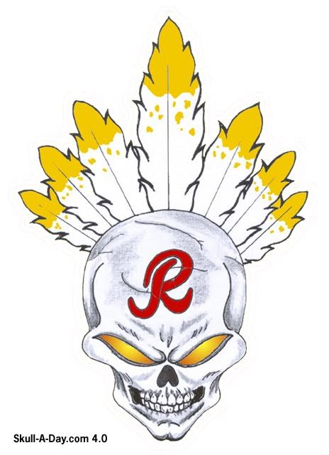 Redskins Skull could be a nice tattoo | Redskins for John ...