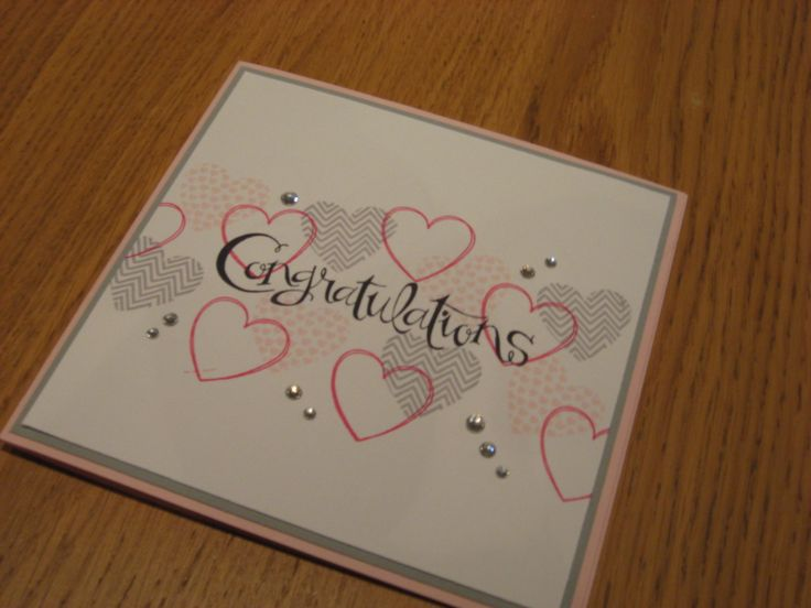 Stampin Up UK, Hearts a Flutter, Congratulations card for wedding or engagement.  http://craftycarolinecreates.blogspot.co.uk/