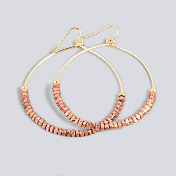 copper: Crafts Ideas, Parties Earrings, Style, Copper, Blocks Parties, Vanessa Mooney, Outfits Ideas, Families Jewels