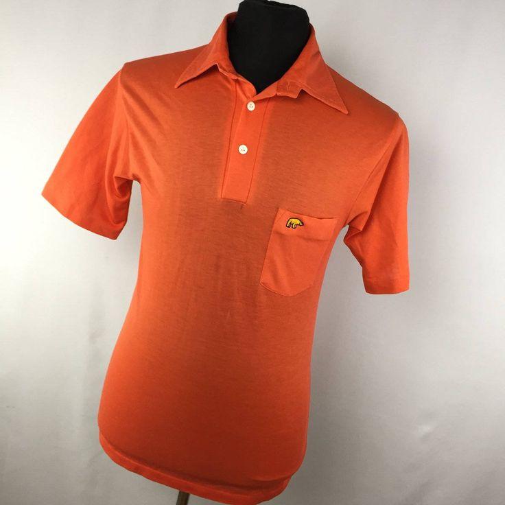Vintage Hathaway Golf Classic for Jack Nicklaus Orange Polo Shirt Embroidered Logo M Medium Golden Bear V5 by AmazingTasteVintage on Etsy