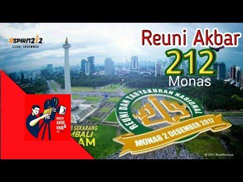 Suasana Reuni Akbar 212 di Monas Jakarta (Desember 2017)