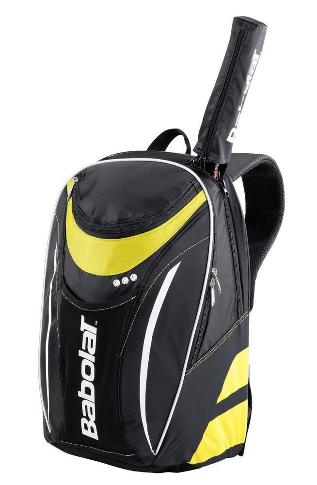 Babolat Club Tennis Backpack Bag Yellow Racket Racquet Medium All Court 127730 Babolat Tennis Bags Tennis Backpack Tennis Bag
