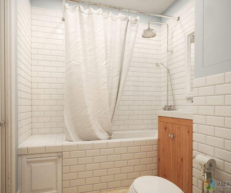 Интерьер ванной комнаты, ванная в скандинавском стиле