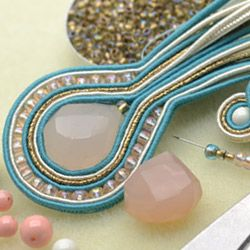 #Soutache 101 at www.beadaholique.com - Learn how to create soutache bead embroidered jewelry with instructional videos, project tutorials and product recommendations from the design team