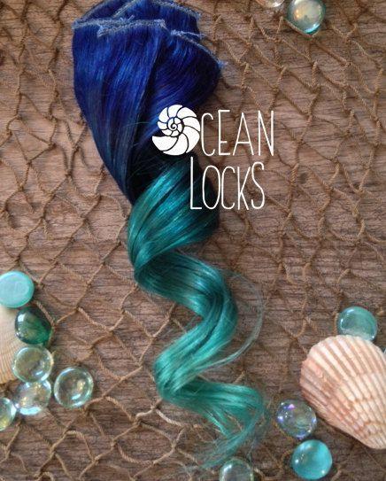 Blue hair Turquoise Hair Teal Hair Ombre Hair by OceanLocksHair