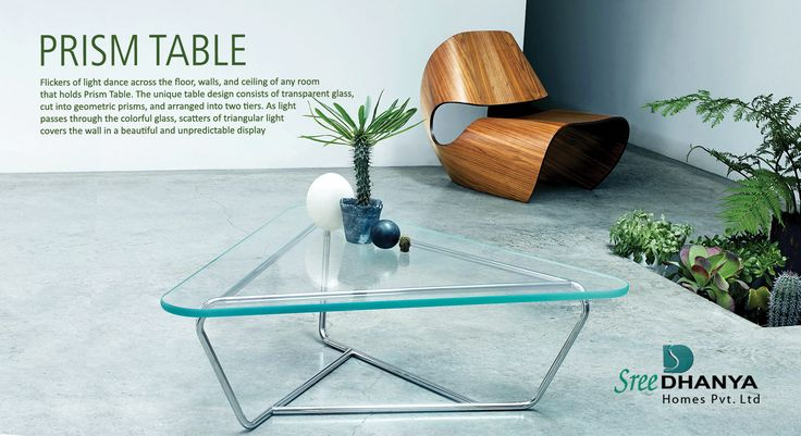 #Prism #Table: The unique design will add a bit of flair to any living space!
