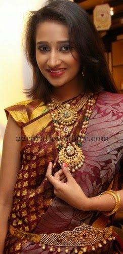 Sowmya in South Pearl Jewelry   Jewellery Designs