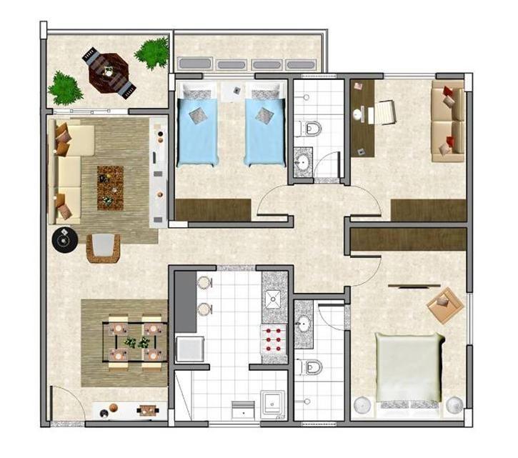 plantas de casas modernas e econ micas planos de casas peque as home house y home decor. Black Bedroom Furniture Sets. Home Design Ideas