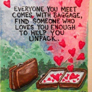 relationship with someone baggage