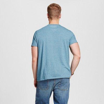 Men's Big & Tall V-Neck Jersey T-Shirt - Merona Green 3XB Tall, Size: 3X Big Tall
