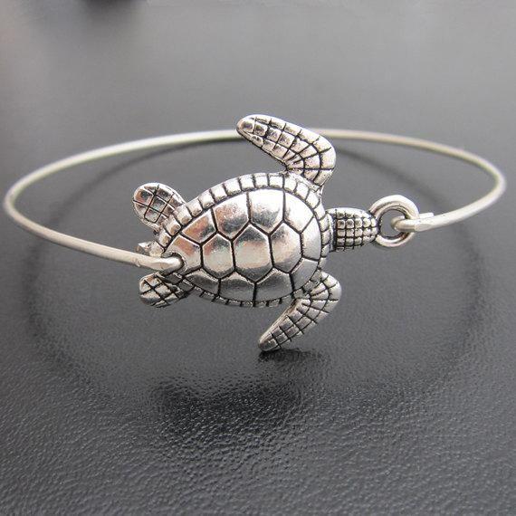 Sea Turtle Beach Bangle Bracelet