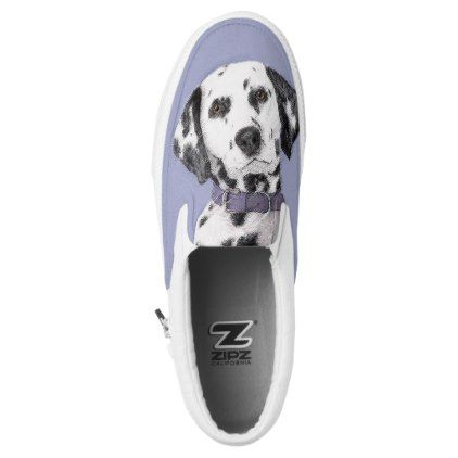 Dalmatian Slip-On Sneakers - drawing sketch design graphic draw personalize