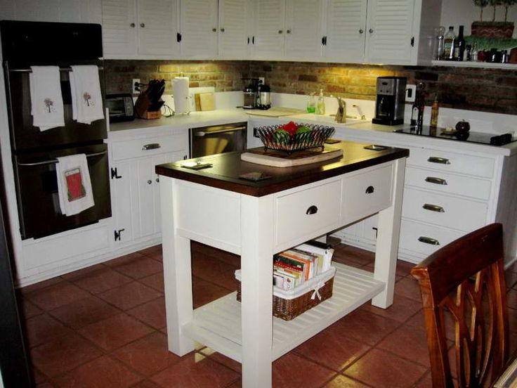 awesome portable kitchen islands with ceramic floor