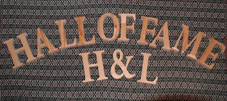 Lettere in legno di pino di grandi dimensioni (leggi) 8