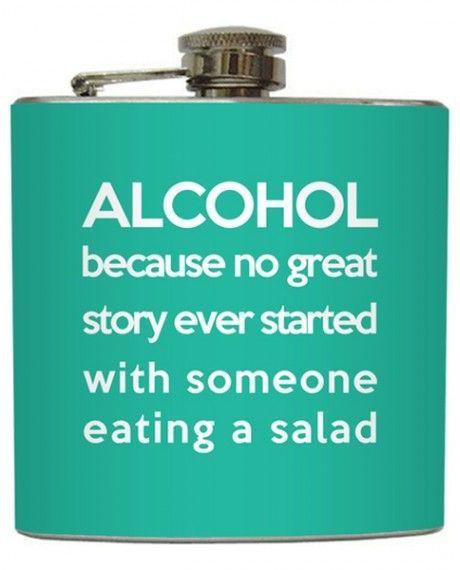 Alchohol Quote Flask <3 So True LOL #love #want