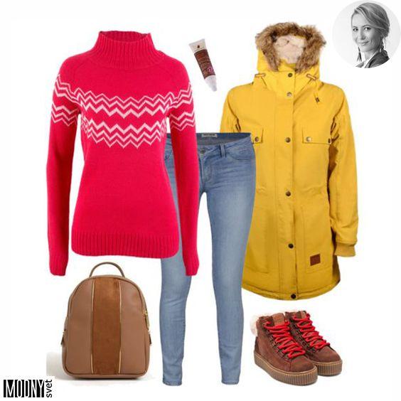 c8fe00822 Dnešné piatkové ráno je veselé a farebné 🙂 Má to na svedomí táto  červeno-žltá kombinácia 😍 Pre veľký úspech som totiž pripravila ďalší  outfit na hory s ...
