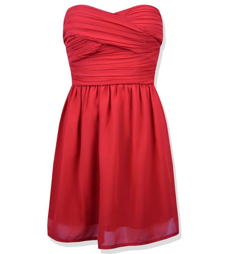 ❤️ Sukienka marki Rare  ❤️ Popularny model - Rare Pleated Bandeau Chiffon Dress  ❤️ Rozmiar małe S (36) (UK 8)  ❤️ Sukienka mini idealna na randkę  ❤️ Brak ramiączek  ❤️ Zapinana z tyłu na srebrny suwak z czarnym wykończeniem  ❤️ Usztywnienie na wysokości biustu  ❤️ Posiada podszewkę  ❤️ Posiada niewielką 1cm dziurkę z przodu, plamy (nie rzucają się w oczy) oraz niewielkie zaciągnięcia na biuście  ❤️ Długość całkowita 63cm, Szerokość w biuście 39cm x2, Szerokość w pasie (tali) 32cm x2