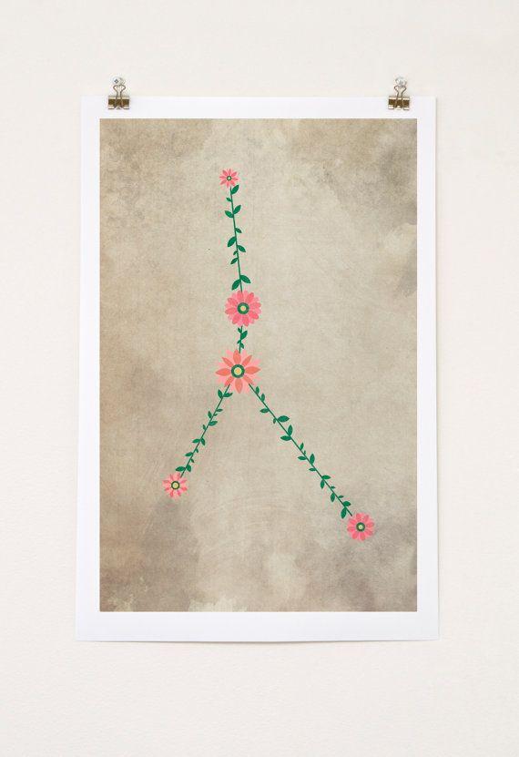 Cancer Constellation, flower art, floral, poster