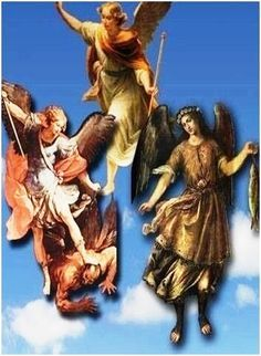 San Miguel, San Rafael, San Gabriel, defiéndenos, sánanos y ayúdanos