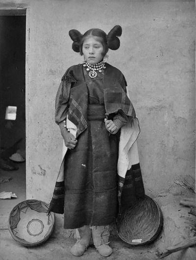 Hopi Girs, 1900, Photos by Frederick Monsen.