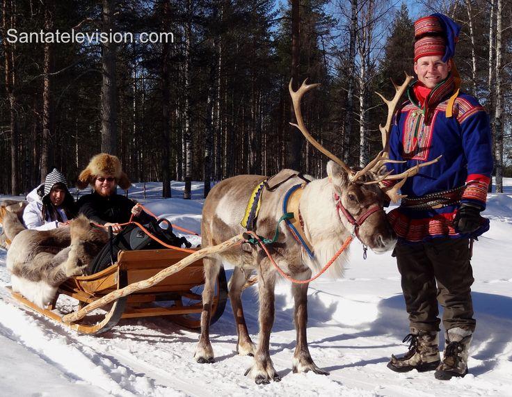 Le escursioni con le renne nel Villaggio di Babbo Natale a Rovaniemi in Lapponia