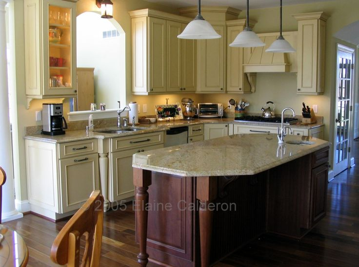 Medallion Cabinetry St Andrews Door Maple Saffron Paint With Burnt Sienna Glaze Cherry With