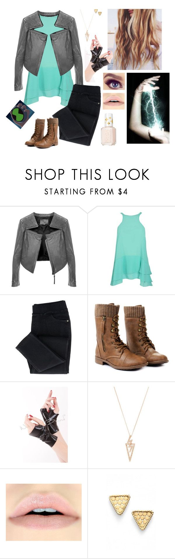"""Bailey Ranch (Ben 10: Alien Force)"" by mjzahner ❤ liked on Polyvore featuring Linea Pelle, Boohoo, Shay, Anna Beck and Essie"