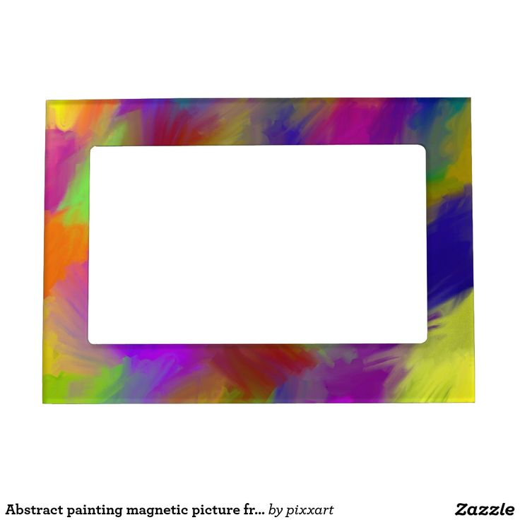 Abstract painting magnetic picture frame