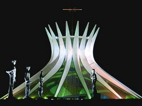 Кафедральные собор в Бразилиа 1960-1970г.