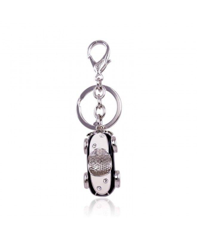 Cute Crystal Rhinestone Keychain Gold Tone Car Key Ring Purse ... 0f67c56b5