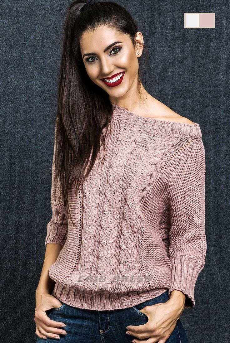 Tricot - Pullover Sweater com tranças  Fit: Vestir Regular  Pormenor: Com tranças na frente e costa  Manga: Manga Comprida Padrão: Jersey Detalhes: Personalizado com a marca Chic Dress