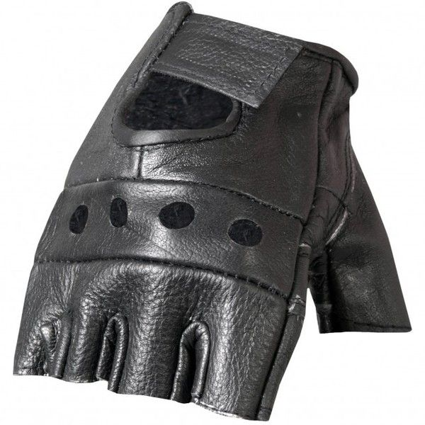 Hot Leathers Fingerless Leather Gloves (25 BRL) ❤ liked on Polyvore featuring accessories, gloves, fingerless biker gloves, fingerless motorcycle gloves, fingerless gloves, palm gloves and padded bike gloves