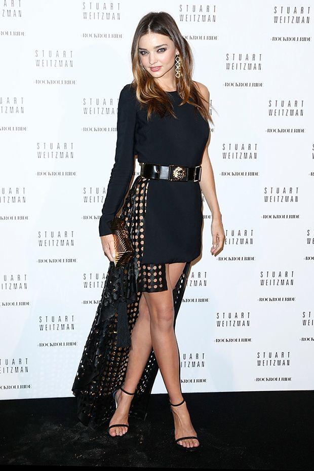 Miranda Kerr rocks Stuart Weitzman's 'Nudist' heels