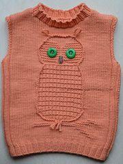 Ravelry: Wise Owl Baby Vest Knitting Pattern pattern by Tatsiana Matsiuk