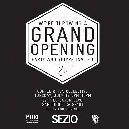 coffee shop opening flyer - Google Search