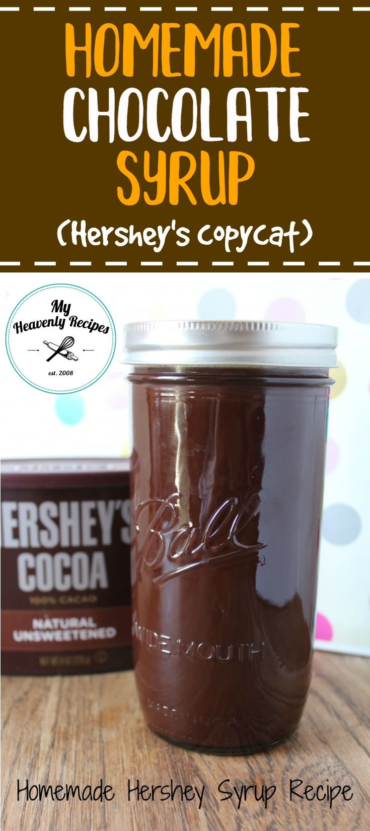 This Homemade Chocolate Syrup Recipe is super simple to make and will be a staple in your fridge for years to come. A great homemade Hershey's syrup! It's one of my favorite copycat recipes. #copycatrecipe #chocolate #chocolaterecipes