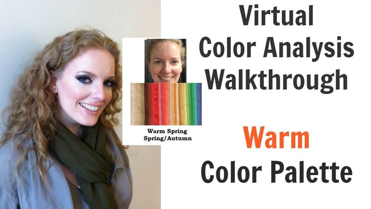 Warm Spring and Autumn Color Palette - Virtual Color Analysis - Warm Ski...