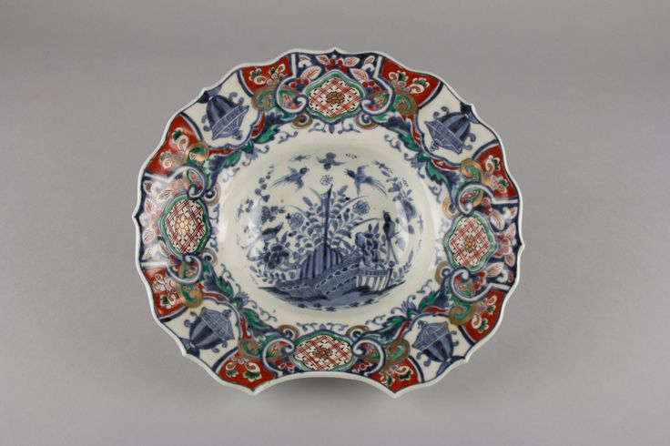 Barber's Bowl with Baroque Decorations | Japan | Edo period (1615–1868) | The Met