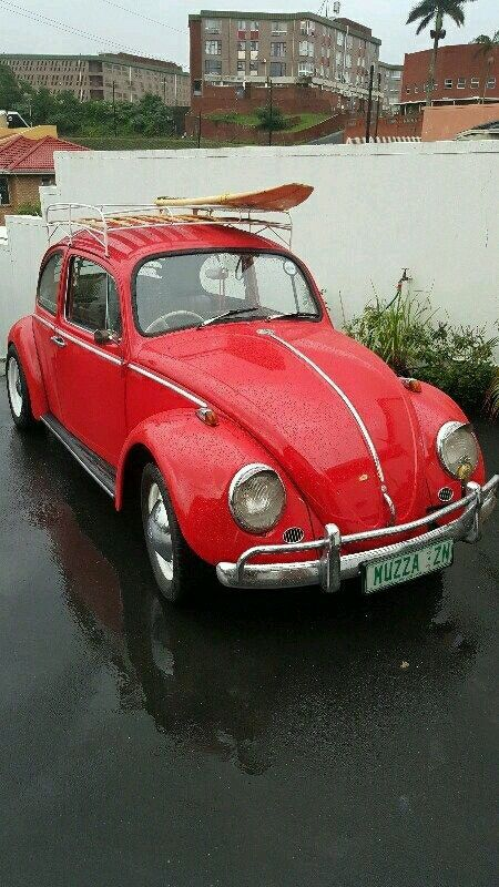 1968 VW Beetle for sale  Red in colour.  The car is 1300 Litre.   With roof racks  This is a collectors item.