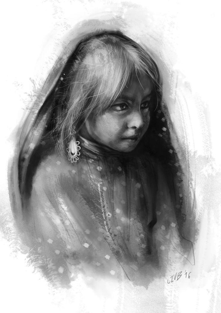 Szkic postaci (na podstawie referencji). #art #digital #painting #portrait