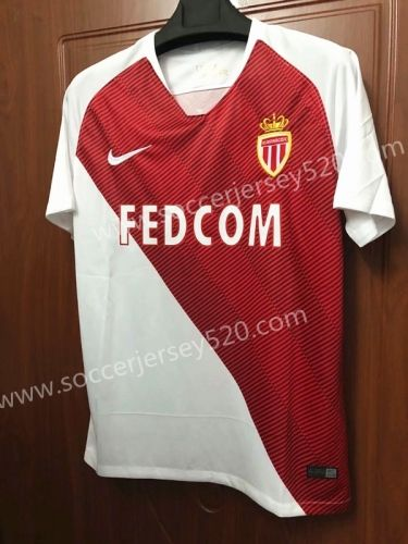 bd3a39e3dd2 2018-19 Monaco Home Red Thailand Soccer Jersey AAA | Cheap Soccer ...