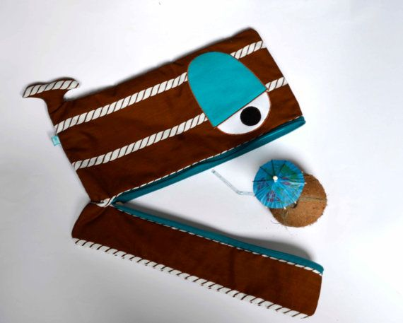 Brown and teal nautical Whale laptop sleeve rope by ritaboth121, $45.00