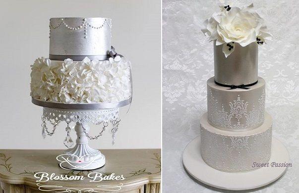 Winter Wedding Cake  Tier Grey Pearl