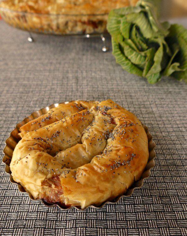 Green Pie with Cheese - Στριφτόπιτα με τυρί